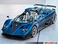 2018 Pagani Zonda HP Barchetta = 355 kph, 800 bhp, 3.1 sec.