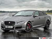 2018 Jaguar XJR575 = 300 kph, 575 bhp, 4.4 sec.