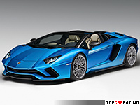 2018 Lamborghini  Aventador S Roadster = 350 kph, 740 bhp, 3 sec.