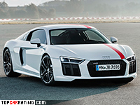 2018 Audi R8 RWS Coupe = 320 kph, 540 bhp, 3.7 sec.