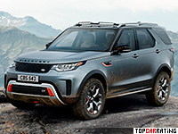 2018 Land Rover Discovery SVX = 250 kph, 525 bhp, 5.3 sec.