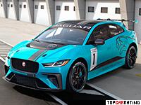 2018 Jaguar I-Pace eTrophy = 250 kph, 400 bhp, 3.9 sec.