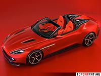 2018 Aston Martin Vanquish Zagato Speedster = 317 kph, 599 bhp, 3.6 sec.