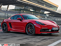 2018 Porsche 718 Cayman GTS = 290 kph, 365 bhp, 4.1 sec.