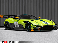 2018 Aston Martin Vulcan AMR Pro = 350 kph, 831 bhp, 2.9 sec.