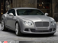 2011 Bentley Continental GT = 319 kph, 567 bhp, 4.6 sec.