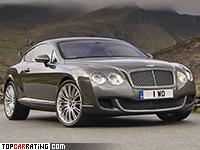 2008 Bentley Continental GT Speed = 325 kph, 610 bhp, 4.5 sec.