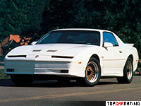 1989 Pontiac Firebird Trans Am Turbo = 230 kph, 250 bhp, 6.2 sec.