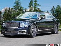 2017 Bentley Mulsanne Mansory = 306 kph, 585 bhp, 5 sec.