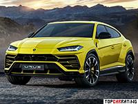 2019 Lamborghini Urus = 305 kph, 650 bhp, 3.6 sec.