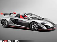 2017 McLaren MSO R Spider = 320 kph, 688 bhp, 2.8 sec.