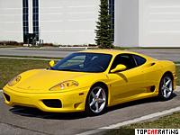 1999 Ferrari 360 Modena = 297 kph, 400 bhp, 4.5 sec.