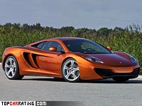 2011 McLaren MP4-12C = 333 kph, 600 bhp, 3.4 sec.
