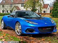 2018 Lotus Evora GT410 Sport = 305 kph, 416 bhp, 4.2 sec.