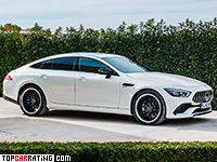 2019 Mercedes-AMG GT 53 4-Door Coupe 4Matic+ = 285 kph, 435 bhp, 4.5 sec.
