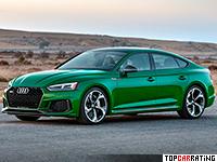 2019 Audi RS5 Sportback = 280 kph, 450 bhp, 4.1 sec.