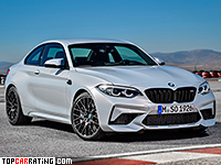 2019 BMW M2 Competition (F87) = 280 kph, 410 bhp, 4.2 sec.
