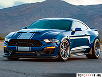 2019 Ford Mustang Shelby Super Snake Widebody = 340 kph, 811 bhp, 3.5 sec.