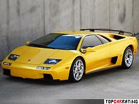 2000 Lamborghini Diablo VT 6.0 = 335 kph, 550 bhp, 3.95 sec.