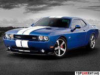 2011 Dodge Challenger SRT8 392 HEMI = 295 kph, 470 bhp, 4.5 sec.