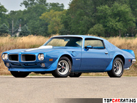 1972 Pontiac Firebird Trans Am 455 = 193 kph, 304 bhp, 7.3 sec.