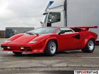 1985 Lamborghini Countach 5000QV = 298 kph, 455 bhp, 4.8 sec.