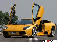 2001 Lamborghini Murcielago = 332 kph, 572 bhp, 4.15 sec.