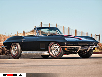 1967 Chevrolet Corvette Sting Ray Convertible L71 427 (C2) = 258 kph, 435 bhp, 5.8 sec.