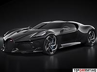 2019 Bugatti La Voiture Noire = 420 kph, 1500 bhp, 2.4 sec.