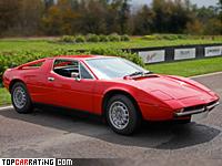1976 Maserati Merak SS = 245 kph, 220 bhp, 7.5 sec.