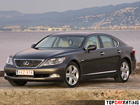 2006 Lexus LS 460 (USF40) = 250 kph, 380 bhp, 5.7 sec.
