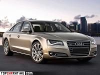 2010 Audi A8 L W12 quattro = 250 kph, 500 bhp, 4.7 sec.