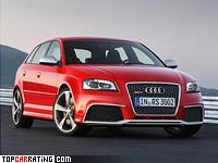 2011 Audi RS3 Sportback = 250 kph, 340 bhp, 4.6 sec.