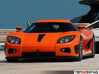 2006 Koenigsegg CCX = 395 kph, 817 bhp, 3.2 sec.