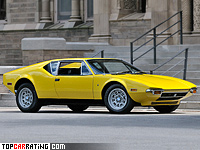 1971 De Tomaso Pantera = 259 kph, 330 bhp, 5.2 sec.