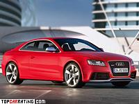 2010 Audi RS5 = 250 kph, 450 bhp, 4.6 sec.