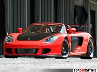 2008 9ff GT-T900 (Porsche Carrera GT) = 390 kph, 900 bhp, 3.2 sec.