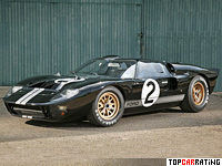 1966 Ford GT40 Mk II = 346 kph, 485 bhp, 5.2 sec.