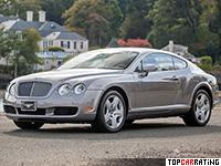 2003 Bentley Continental GT = 319 kph, 560 bhp, 4.8 sec.