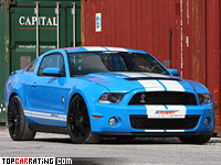 2010 Ford Mustang Shelby GT GeigerCars = 354 kph, 810 bhp, 3.9 sec.