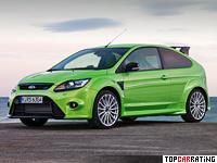 2009 Ford Focus RS = 260 kph, 305 bhp, 5.9 sec.