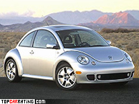 2002 Volkswagen New Beetle Turbo S = 211 kph, 180 bhp, 7.2 sec.