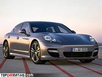 2011 Porsche Panamera Turbo S = 306 kph, 550 bhp, 3.8 sec.