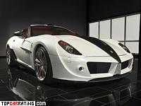 2008 Ferrari 599 GTB Fiorano Mansory Stallone = 340 kph, 720 bhp, 3.4 sec.