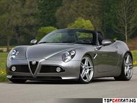 2011 Alfa Romeo 8C Spider Novitec = 306 kph, 600 bhp, 3.9 sec.