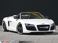 2011 Audi R8 Spyder Wheelsandmore R-Stream = 320 kph, 600 bhp, 3.5 sec.