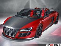 2011 Audi R8 Spyder ABT GT S = 320 kph, 620 bhp, 3.6 sec.