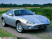 1998 Jaguar XKR Coupe = 250 kph, 363 bhp, 5.4 sec.