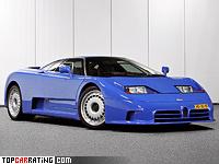 1992 Bugatti EB 110 GT = 342 kph, 560 bhp, 3.5 sec.
