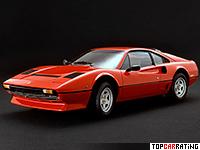 1982 Ferrari 208 GTB Turbo = 242 kph, 220 bhp, 6.8 sec.
